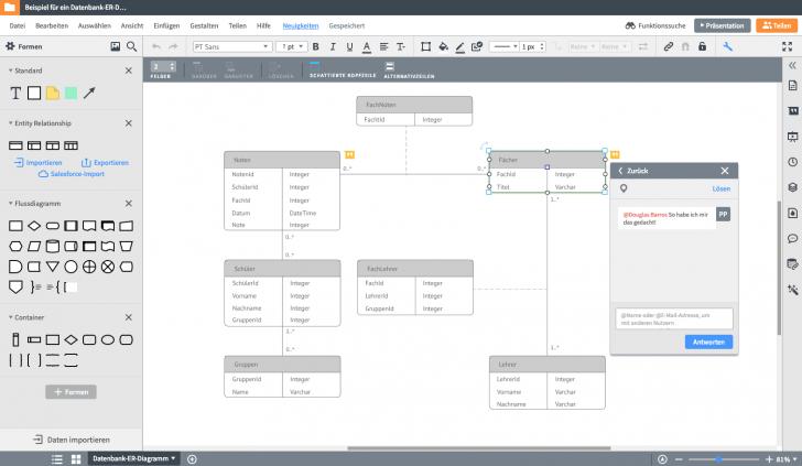 Permalink to Er-Modell Tool | Lucidchart in Er Diagram Zeichnen