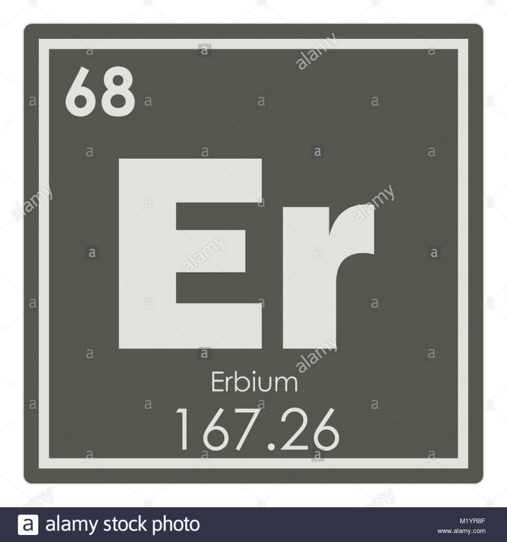 Permalink to Erbium Chemical Element Periodic Table Science Symbol Stock for Er Symbol