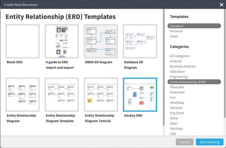Permalink to Erd Crm Project Template For A University W – Lucidchart in Er Model Software