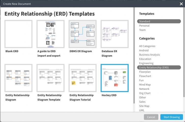 Permalink to Erd Crm Project Template For A University W – Lucidchart regarding Er Diagram Visio Template