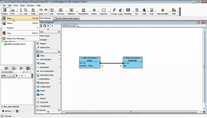 Permalink to Generate Erd Relationship From Uml Association In Class Diagram with regard to Uml Er Diagram