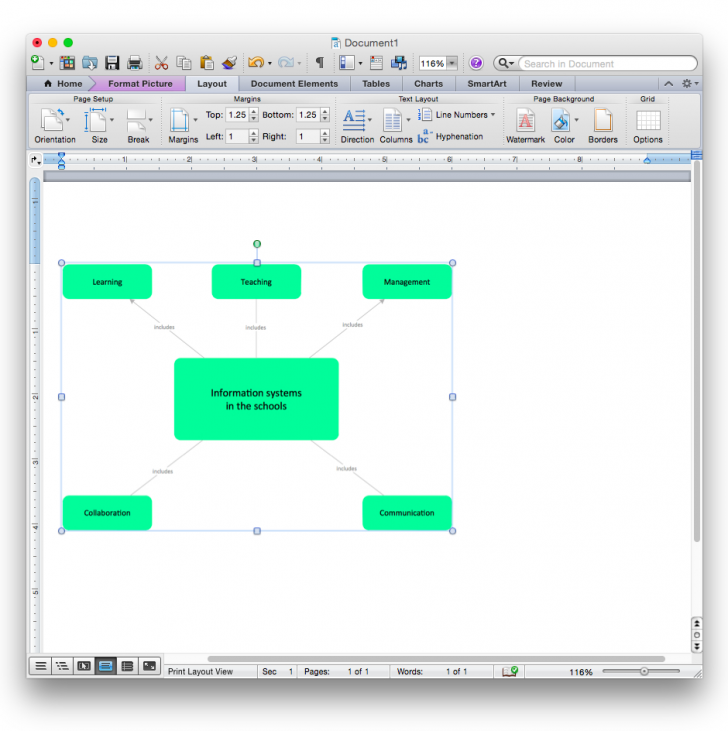 Permalink to How To Add A Bubble Diagram To A Ms Word Document Using pertaining to Er Diagram Microsoft Word
