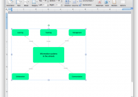 How To Add A Bubble Diagram To A Ms Word Document Using with regard to Er Diagram Word Template