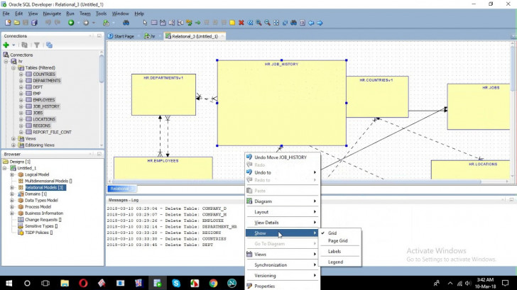 Permalink to How To Create Erd From Sql Developer with regard to Er Model Sql