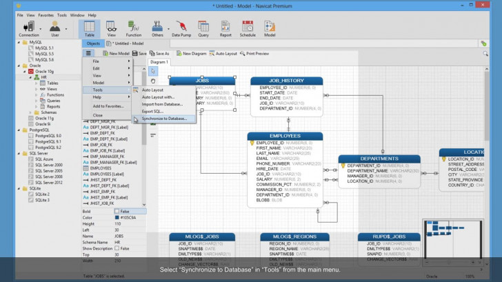 Permalink to How To Create Model From An Existing Database Using Navicat? (Windows &  Linux) throughout Er Diagram Navicat