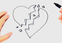 How To Draw A Broken Heart Stepstep | Easy Drawings regarding How To Draw Er Diagram Youtube