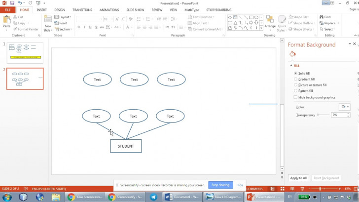 Permalink to How To Draw Er Diagrams Using Microsoft Powerpoint – Part 1 within Er Diagram Microsoft Word