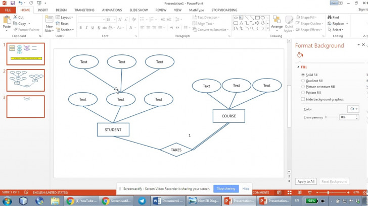 Permalink to How To Draw Er Diagrams Using Microsoft Powerpoint – Part 2 with regard to How To Draw Er Diagram Youtube