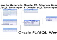 How To Generate Oracle Er Diagrams Using Pl/sql Developer & Oracle Sql  Developer?