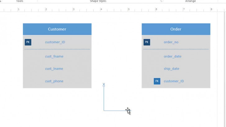 Permalink to How To Use Visio 2016 For Conceptual Data Modeling And Er Diagram within Er Diagram Visio Template