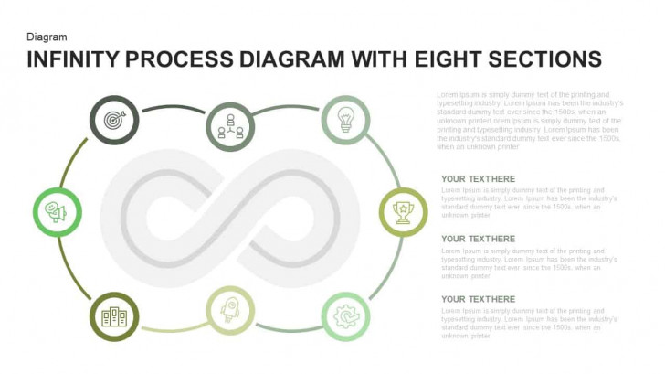 Permalink to Infinity Process Diagram Powerpoint Template With Eight Sections in Er Diagram Powerpoint Template