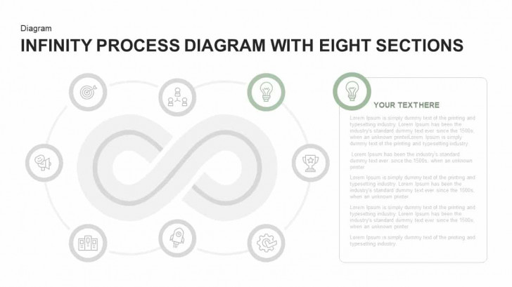 Permalink to Infinity Process Diagram Powerpoint Template With Eight Sections with regard to Er Diagram Powerpoint