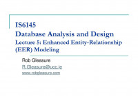 Is6145 Database Analysis And Design Lecture 5: Enhanced pertaining to Entity Relationship Analysis