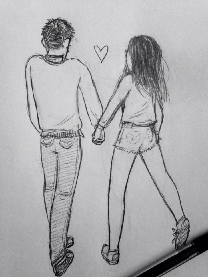 Permalink to Just A Doodle Of Mine ❤️ #art #love #cute #relationship within Drawing Relationship