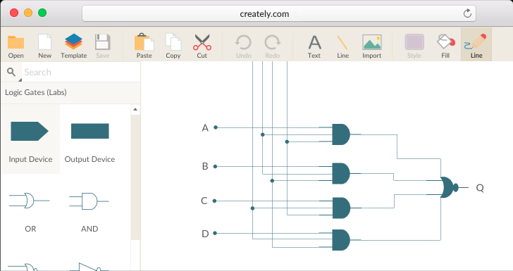 Permalink to Logic Gate Software | Logic Gate Tool | Create Logic Gates intended for Er Diagram Calculator