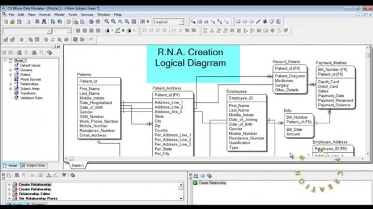 Permalink to Logical Model – Hospital System – Erwin Data Modeler in Erwin Model