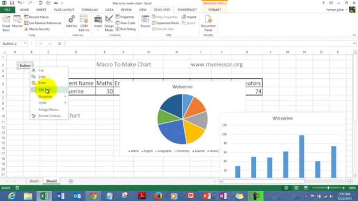 Permalink to Macro To Create Charts In Excel regarding Er Diagram Excel
