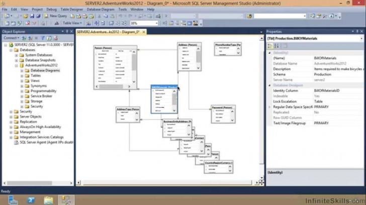 Permalink to Microsoft Sql Server Exam 70-461 Tutorial | Saving Diagrams regarding Er Diagram Sql Server 2012