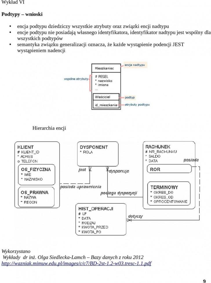 Permalink to Modelowanie Danych, Projektowanie Systemu Informatycznego – Pdf for Diagram Er W Zapisie Martina