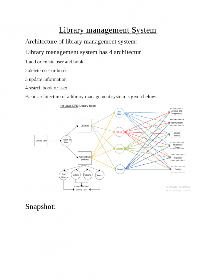 Permalink to Online Library Management Architecture And E-R Diagram – Docsity regarding Er Diagram Lecture Notes