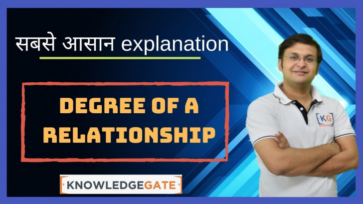 Permalink to Part 2.5 Degree Of A Relationship In A Er Diagram In Dbms In Hindi Name  Degree Cartesian Ratio regarding Er Diagram Nptel