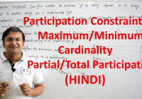 Part 2.7 Participation Constraints In Dbms In Hindi Er Diagram Total with regard to Er Diagram Examples In Hindi