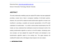 Pdf) Modifying The Entity Relationship Modelling Notation for Introduction To Er Model