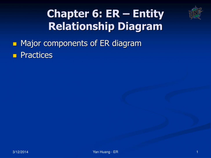 Permalink to Ppt – Chapter 6: Er – Entity Relationship Diagram Powerpoint within Er Diagram Powerpoint