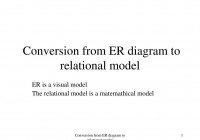 Ppt – Conversion From Er Diagram To Relational Model