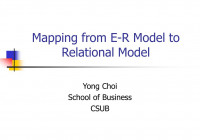 Ppt – Mapping From E-R Model To Relational Model Powerpoint pertaining to Mapping Er Model To Relational Model Example