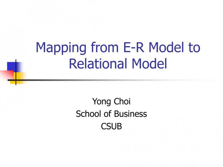 Permalink to Ppt – Mapping From E-R Model To Relational Model Powerpoint pertaining to Mapping Er Model To Relational Model Example