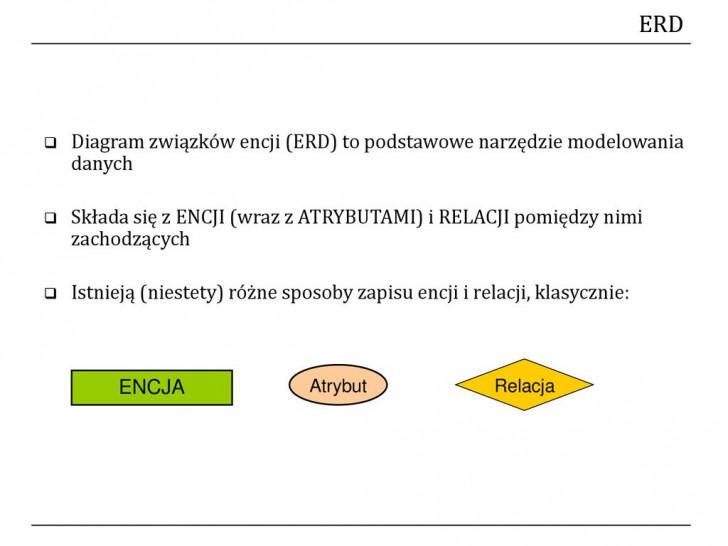 Permalink to Relacyjne Bazy Danych Wojciech St. Mościbrodzki – Ppt Pobierz pertaining to Diagram Er W Zapisie Martina