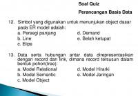 Soal Quiz Perancangan Basis Data – Ppt Download with Simbol Er Diagram Yang Berbentuk Elips