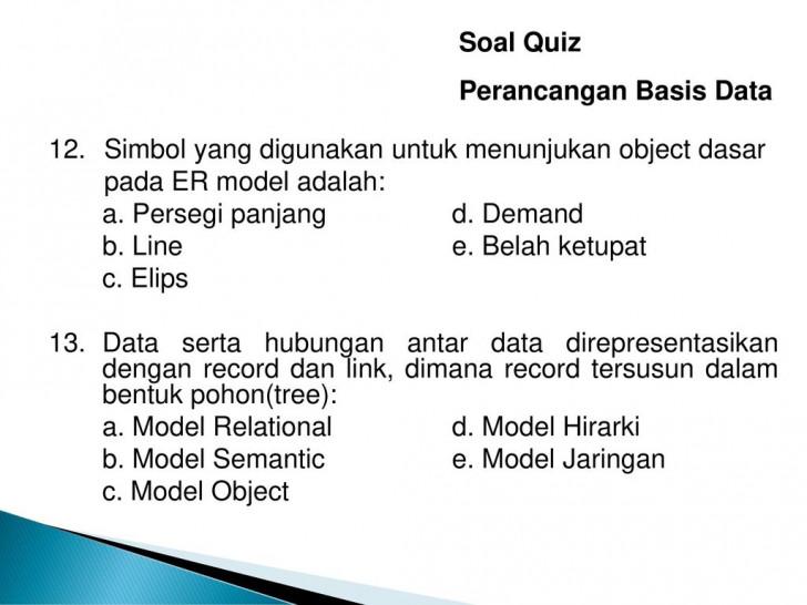 Permalink to Soal Quiz Perancangan Basis Data – Ppt Download with Simbol Er Diagram Yang Berbentuk Elips