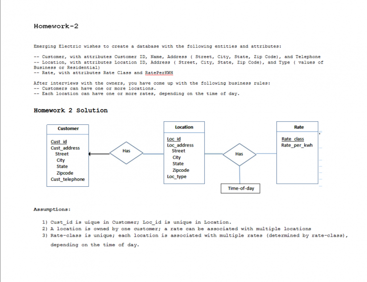 Permalink to Solved: Consider The Scenario From Homework 2 Where You De throughout Er Diagram Assignment Solution