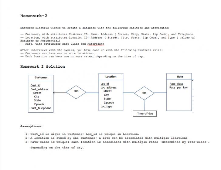 Permalink to Solved: Consider The Scenario From Homework 2 Where You De with Er Diagram Homework