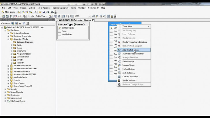 Permalink to Sql Server Database Diagram In Sql Management Studio inside Er Diagram Sql Server 2012