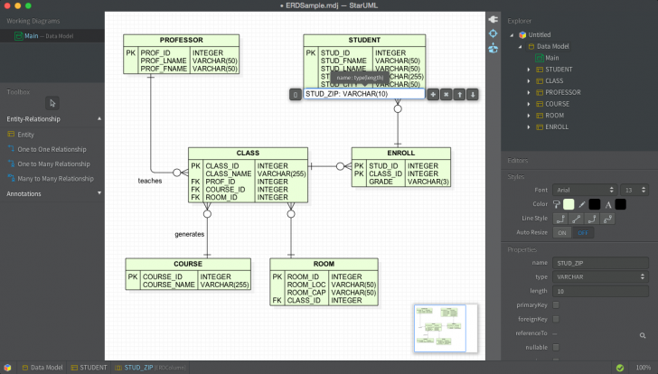 Permalink to Staruml – Dbms Tools within Er Diagram To Star Schema