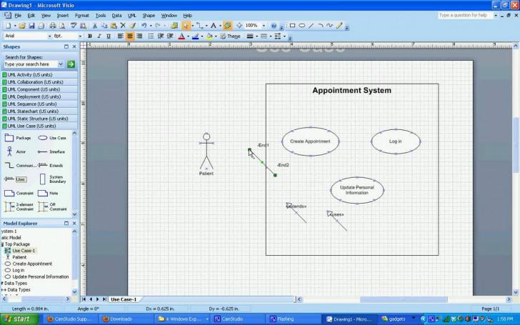 Permalink to Uml Use Case Diagrams In Visio 2007 regarding Er Diagram Visio 2007