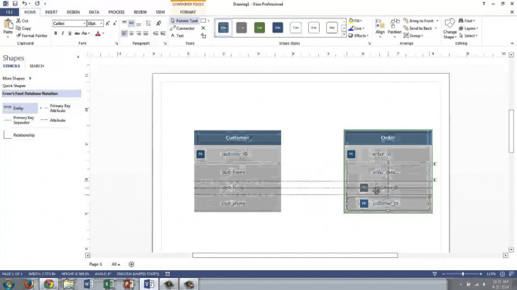 Permalink to Visio 2013 Conceptual Data Modeling inside Er Diagram Using Visio 2013