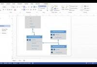 Visio 2013 – Database Diagram (Crows Foot Notation) in Visio Relationship Diagram