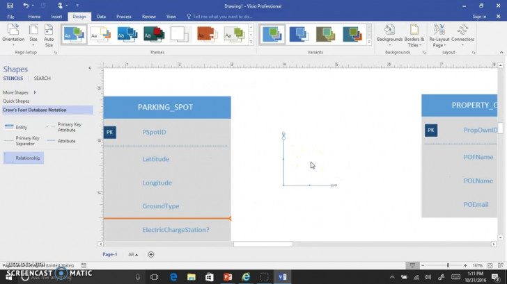 Permalink to Visio 2016 Crows Foot Erd Interface Demo V2 pertaining to Er Diagram Visio Template