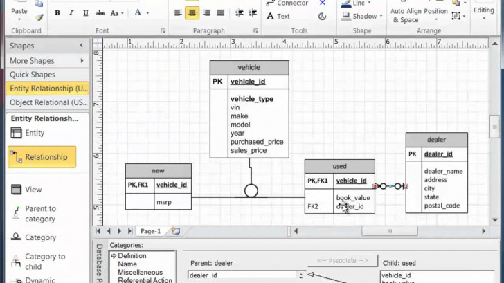 Permalink to Visio Subtype Supertype Modeling intended for Er Diagram In Access 2007