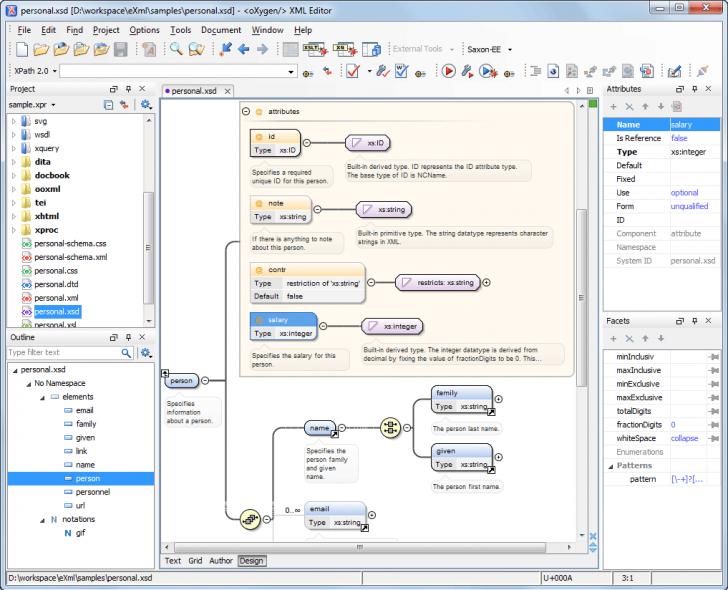 Permalink to Visual Xml Schema Diagram Editor (Design Mode) regarding Er Diagram Xml