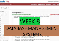 Week 8 Nptel || Database Management Systems (Dbms) Assignment  Answers/solutions (2020) regarding Er Diagram Nptel