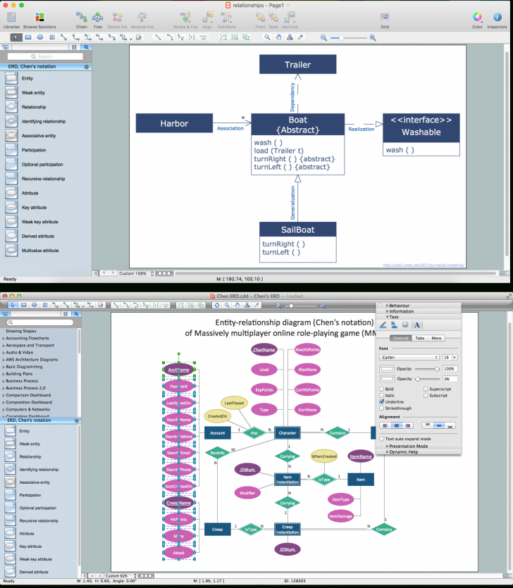 Permalink to What's The Best Erd Tool For The Mac? | Entity Relationship within Er Diagram Editor