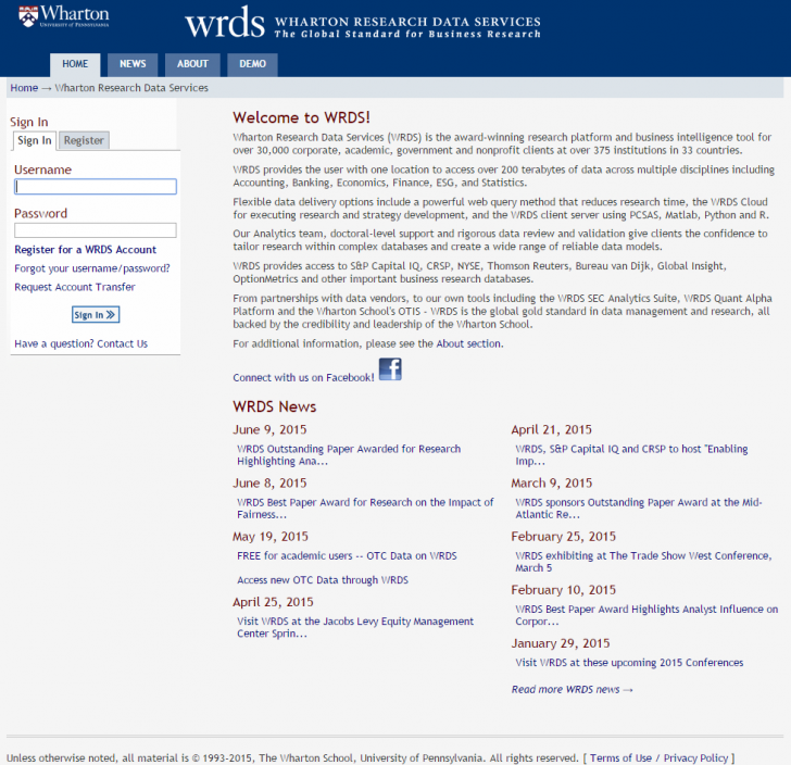 Permalink to Wrds Website And Access   Business Research Plus for Wrds Database